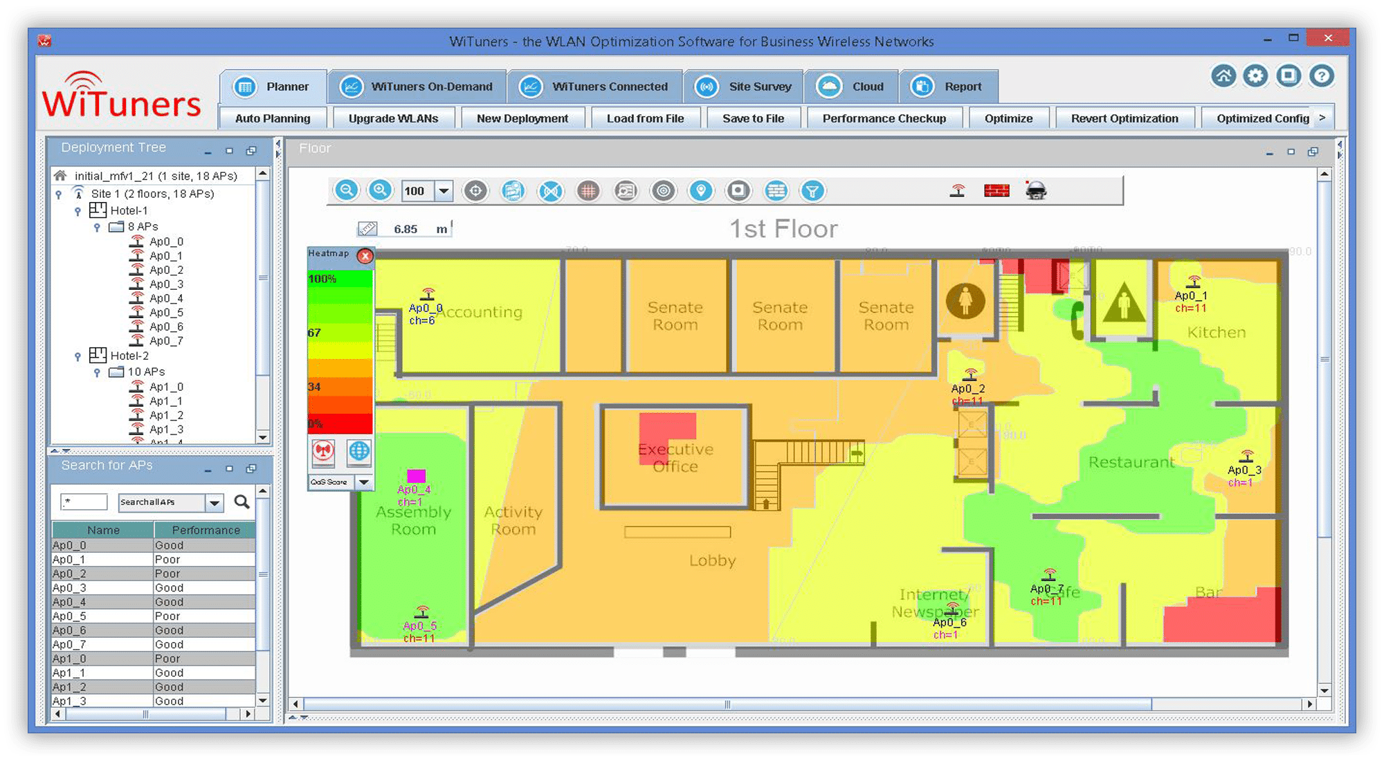 wifi planning coverage hole wifi heatmap