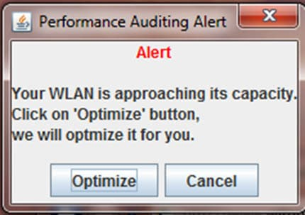 Wireless LAN Performance Auditing Alert