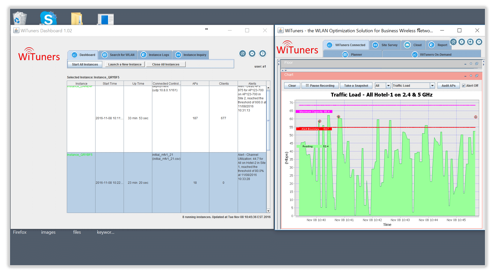 optimize and track multiple wlans in managed services software for wifi performance