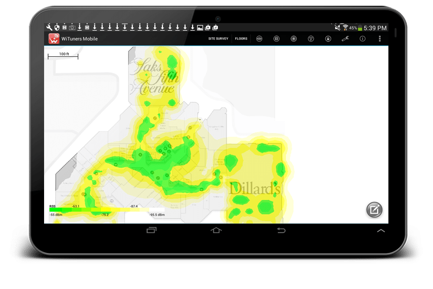 map out signal, noise and user performance in different color heatmap
