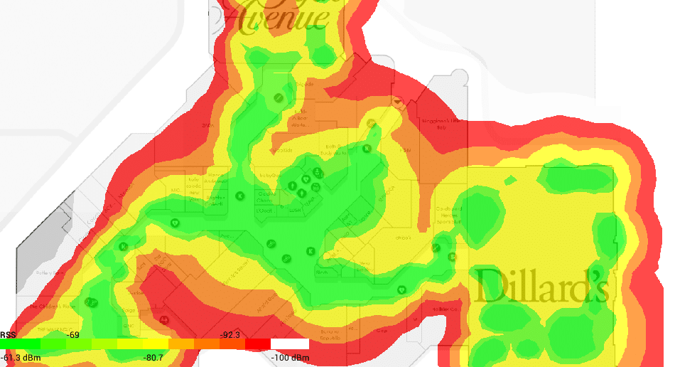 show heat maps of coverage on a loaded floor map