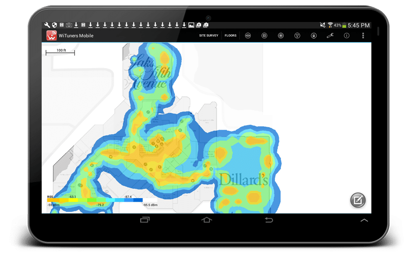 survey noise coverage heatmap with different color theme
