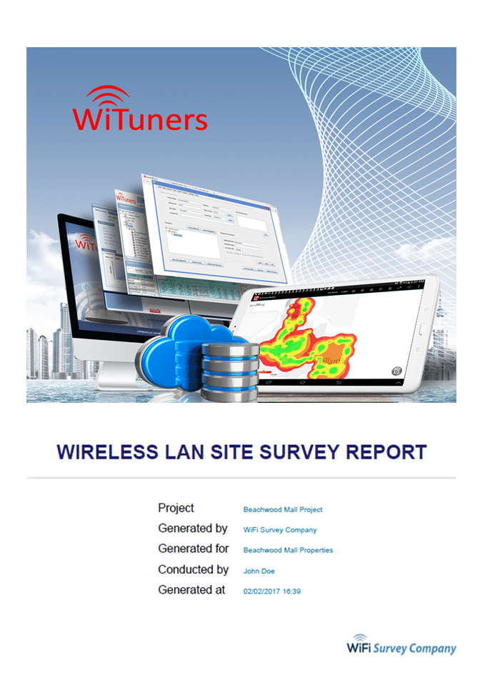 Customize wifi site survey report cover page