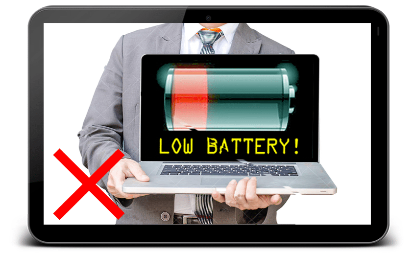 worry about out of battery in site survey project