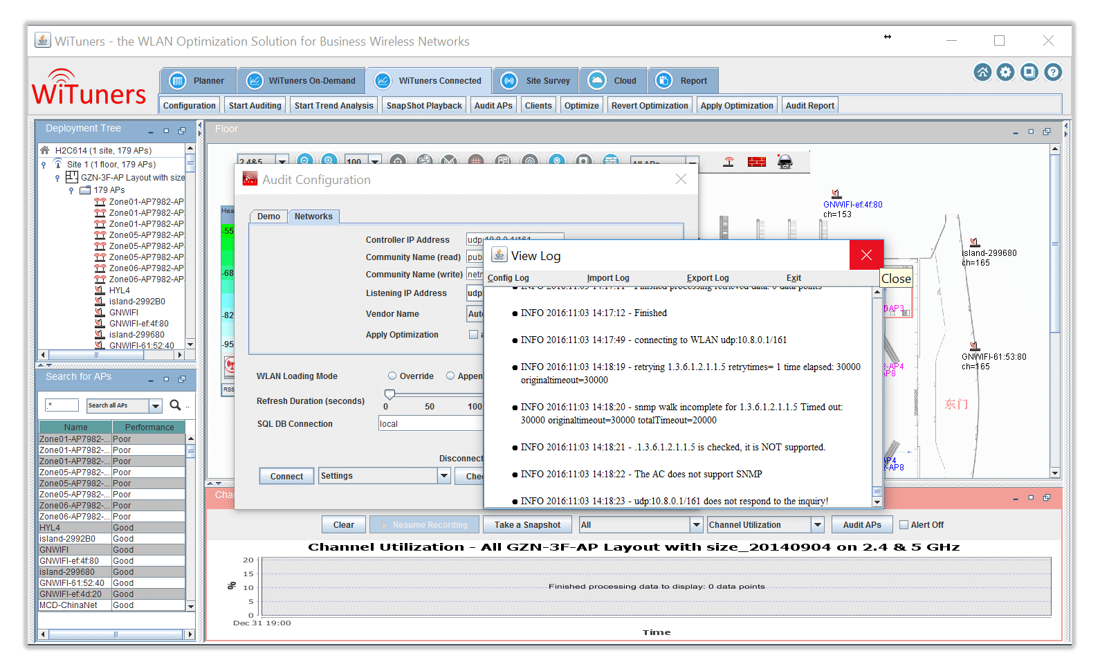 detail connected log in WiFi Monitoring Software