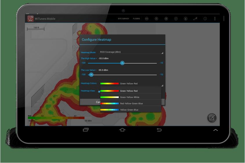 WiFi site survey Heatmaps coverage mapping