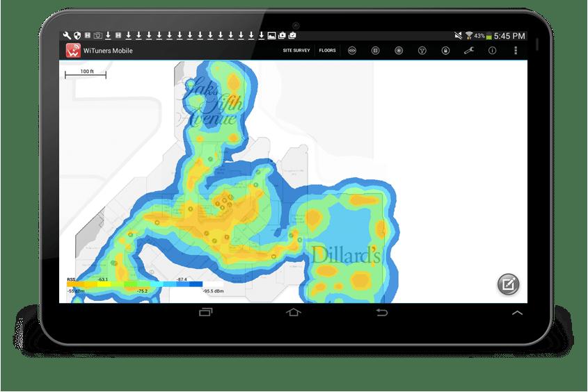 survey noise coverage heatmap with different color theme