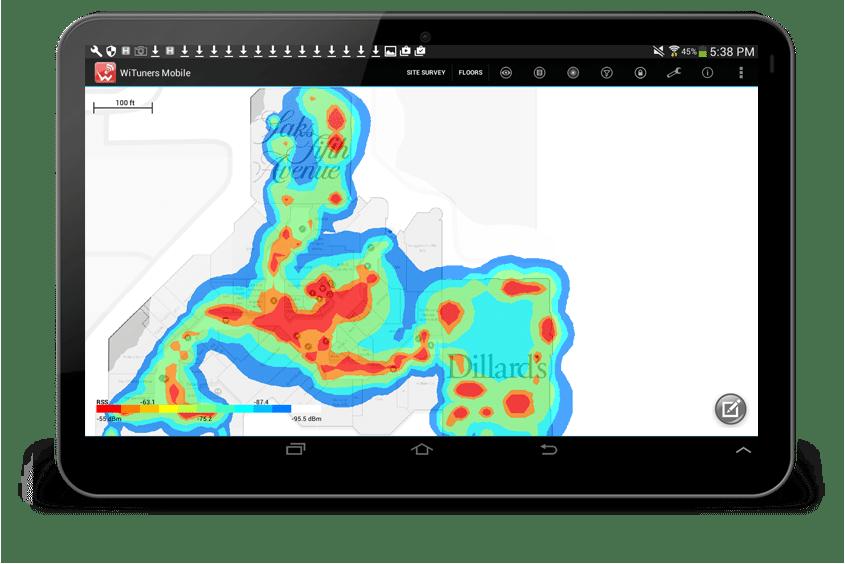 survey noise coverage heatmap with a new color theme
